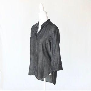 Cloth & Stone dark gray chambray denim shirt small